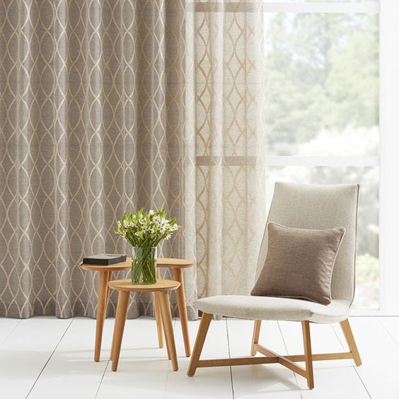Curtains Ideas curtains in australia : Warwick Fabrics: JATANI - sheer curtains with a twist | Sheer ...
