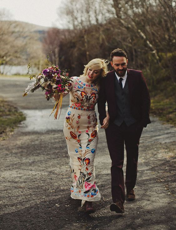 Temperley London floral wedding dress:
