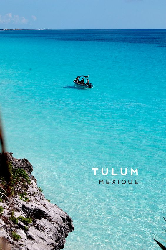 De l´eau turquoise à Tulum, #Mexique