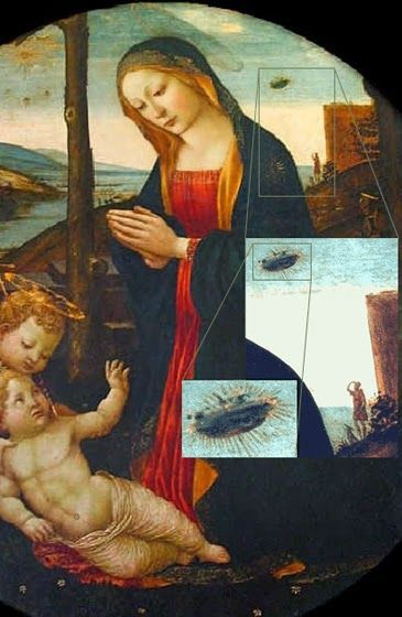CONNECTING SIRIUS : UFO Discovered In 16th Century Painting - Craft Shown Emitting Smoke