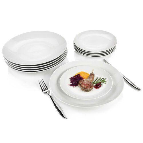 New Port 12 Piece Porcelain China Dinnerware Set Service For 6 Sanger In 2020 China Dinnerware Sets China Dinnerware Dinnerware