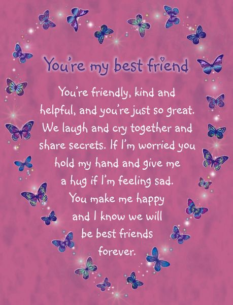 Best Friend Quotes For A Card : Kids card you re my best friend friendly kind