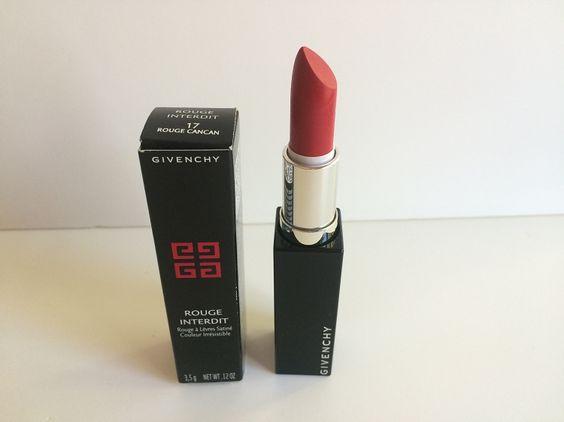 Givenchy rouge interdit satin lipstick 17 rouge cancan givenchy products pinterest for Givenchy rouge miroir lipstick