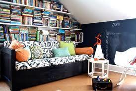 One wall as a bookshelf