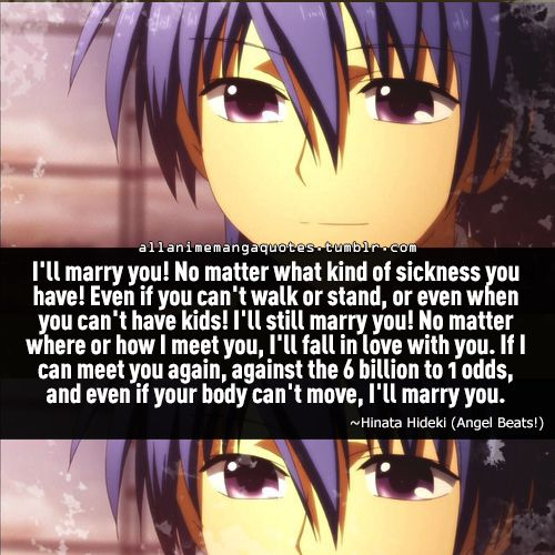 one of the saddest anime quote i ever read angel beats