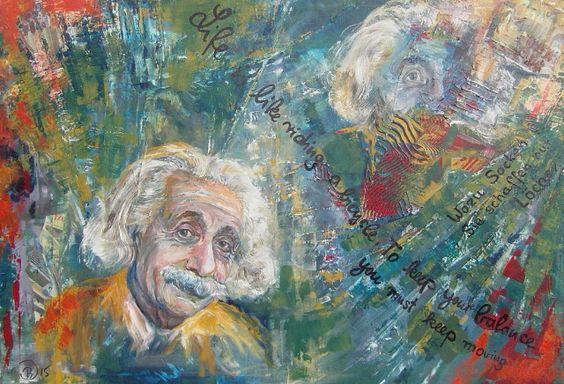 """""""Albert Einstein"""" by Brigitte Dietz (Germany) #art #germany #deutschland #einstein #contemporaryart"""