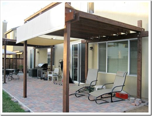 patio awnings made from canvas dropcloths