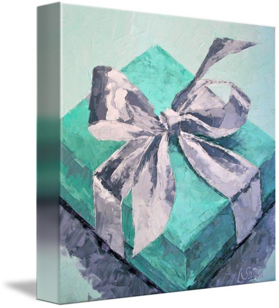 """""""Its All About the Box"""" by Leslie Saeta, South Pasadena // Box from Tiffany's // Imagekind.com -- Buy stunning fine art prints, framed prints and canvas prints directly from independent working artists and photographers."""