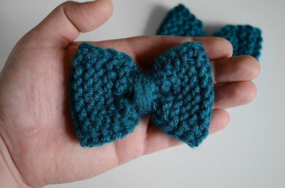 Small Teal Blue Hair Bows by RailroadAndHolly - $8 each or $15 for a pair