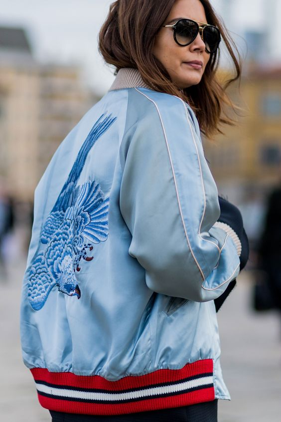 Bomber Jackets are The thing this spring - Cute one for Spring color ladies (she is Earthy Ri8ch and Spring - Lively Bright.):