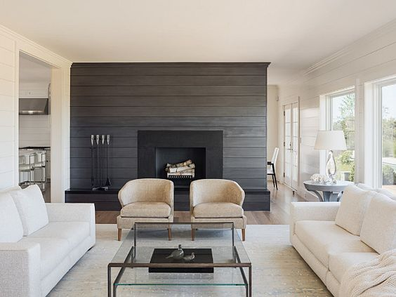 Charcoal Gray Shiplap Fireplace And Charcoal On Pinterest