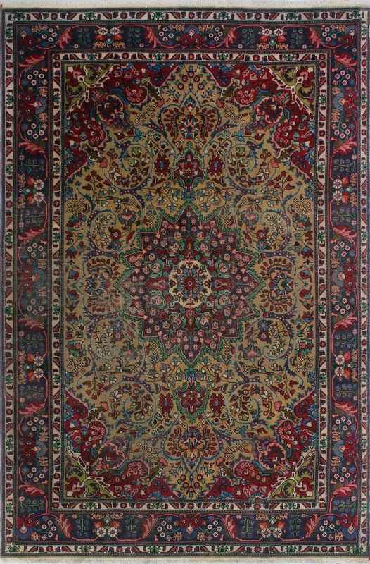 879 99 6 5x9 6 0 33 Pile One Of A Kind Millikan Distressed Calvin Hand Knotted Wool Red Blue Beige Are Rug Rugs Area Rugs Throw Rugs