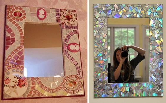 Mosaico e CD picado