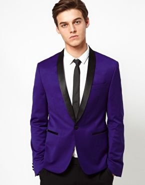 ASOS Skinny Tuxedo Suit Jacket in Indigo Polywool $48 | Unsecret ...