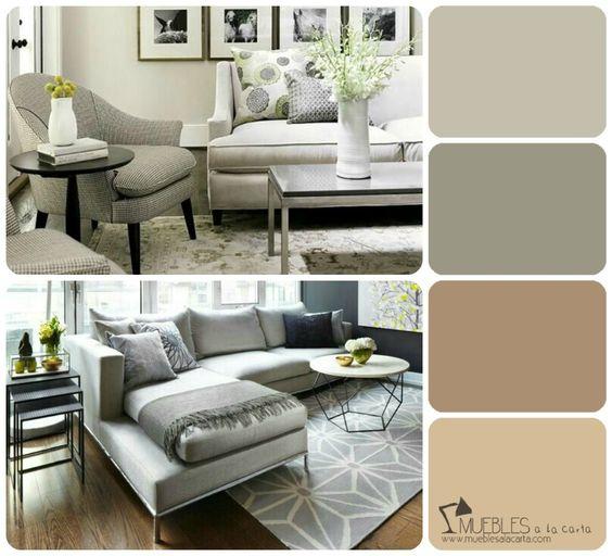01 gama de colores para tu salon neutros for the home - Paredes decoradas modernas ...
