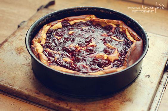 Käsekuchen mit Glühweinkirschen | A Cake A Day | Mein Foodblog