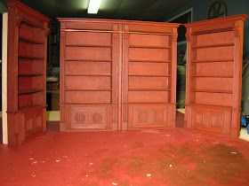 Dollhouse 1/12 Miniature Library bookcases