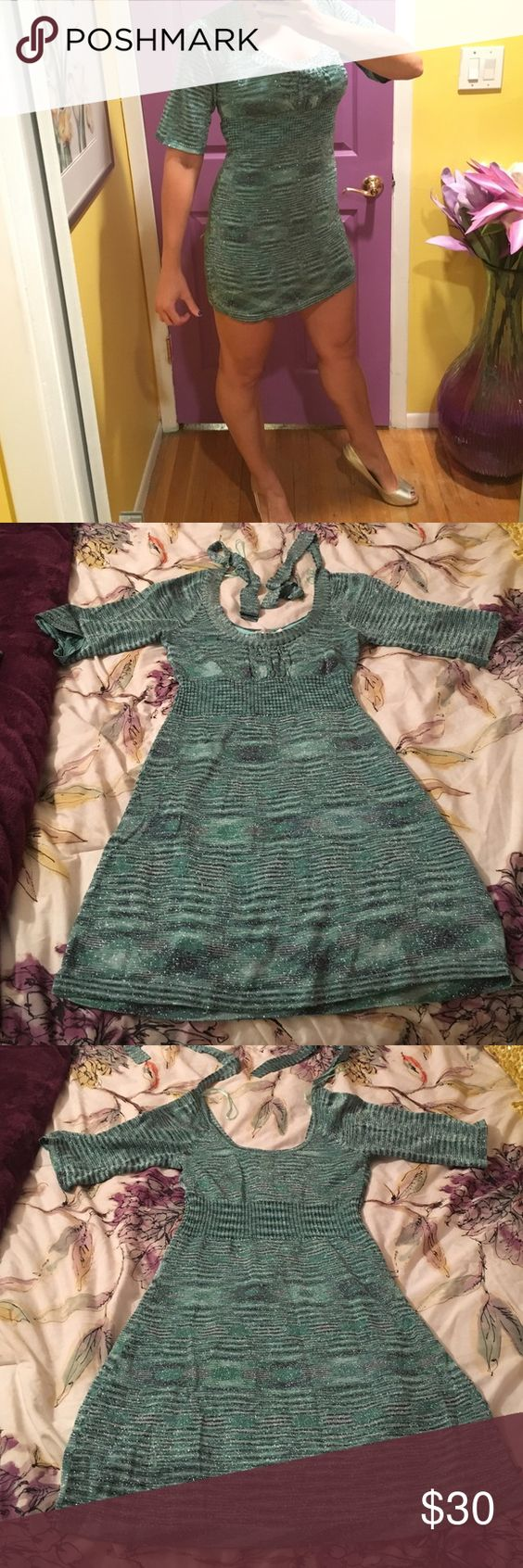 Guess Dress Guess Jeans Brand knit dress. Great for the holidays. Beautiful Mint green color. As seen on the bachelor (Jake Pavelka's season, Vienna wore it!) I had it first though! LOL. Great Condition. Worn handful of times. Tight fitting but stretchy material. Ties around the neck in back and is a pull over dress. Guess Jeans Dresses Mini