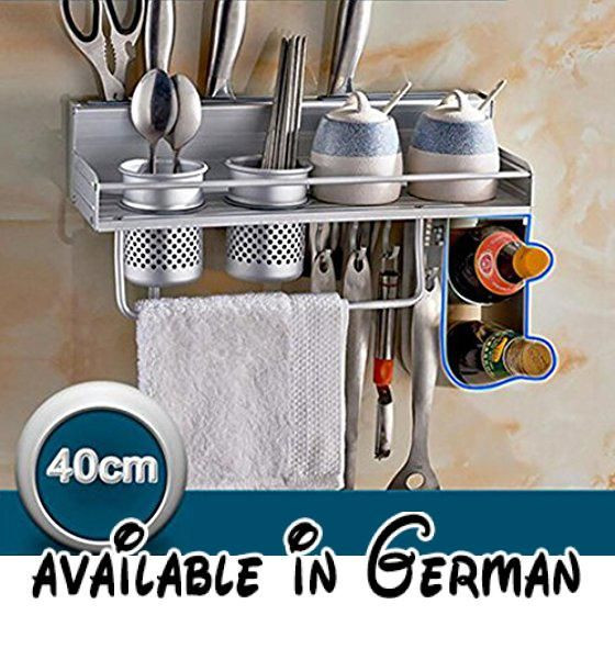 B078V3ZV2S  Raum-Aluminium Küche Racks Küche Anhänger Zubehör - küche welche farbe