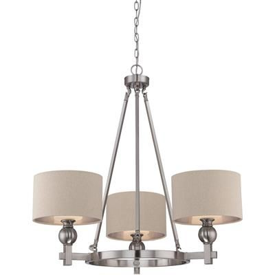 Receive an Instant Gift Certificate up to 10% of your entire order of $100+ when you share! Metro 1 Tier Chandelier With 3 Lights