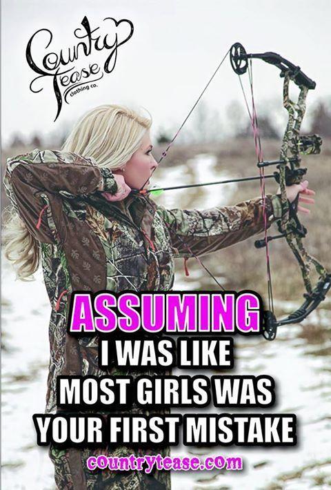 Damn straight #hunting #girls #women #bow