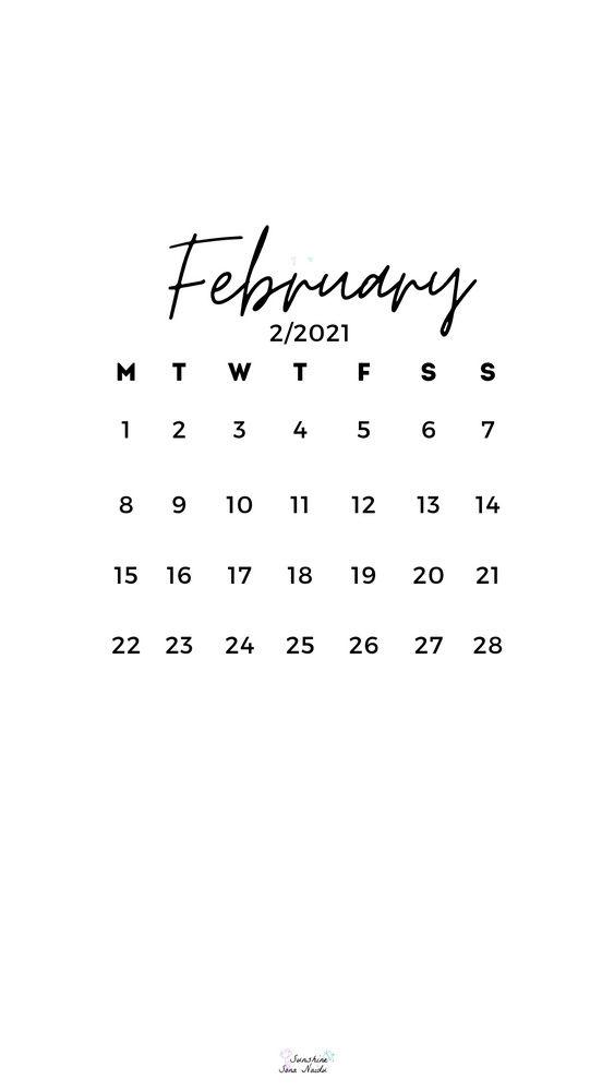 February 2021 Wallpaper Hd In 2021 February Wallpaper February Calendar Calendar Wallpaper