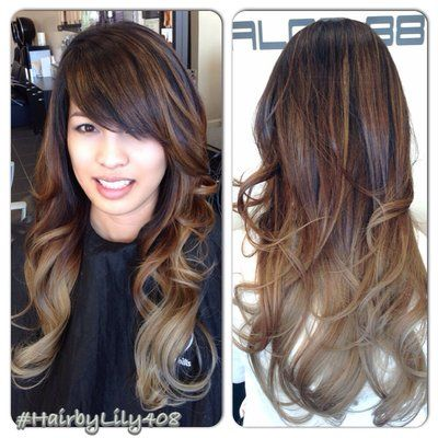 Loving this ombre look, side bangs