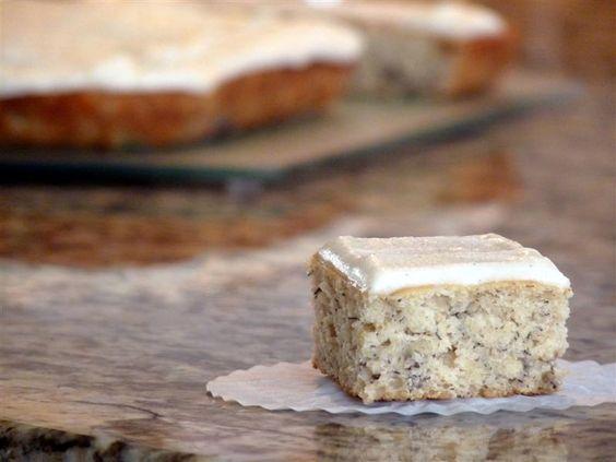 Banana Cake #Cake: Cake Recipe, Recipes Cake, Sweet Treats, Vanilla Bean Frosting, Cream Cheese, Ripe Banana, Vanilla Frosting