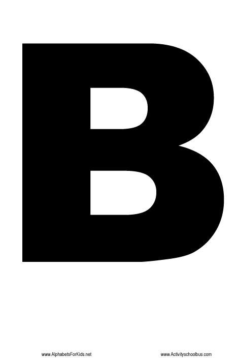 Large Size Alphabet Letter Print | Large alphabet letters & letter ...