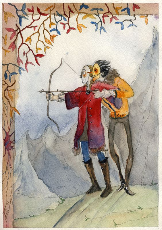 The mistletoe is not a romantic flower (where does that idea even come from?). In norse mythology Balder is killed by a mistletoe arrow shot by his blind brother Hod (conveniently enough Loki aimed for him) so that's what's going on here.