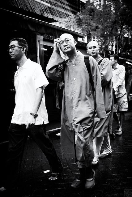 On the my way back into chinatown mrt, there were to monks came across me, without any hesitate, i took the picture of them. After the shot, he asked me why u took my picture, but in chinese and i dont understand, so i just say hi to him.