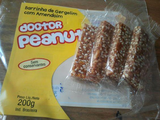 Barrinha de Gergelim com Amendoim - doctor peanut. Ótima entre as refeições! #glutenfree