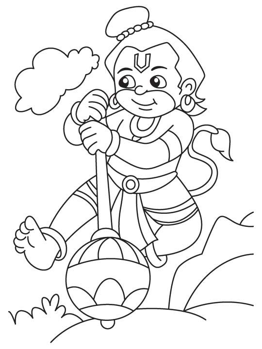 Bal Coloring Hanuman Pages 2020 Bal Hanuman Hanuman