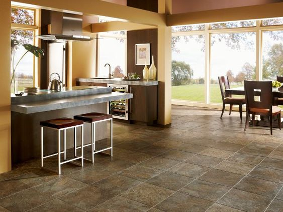 luxury vinyl slate look tile looks like but