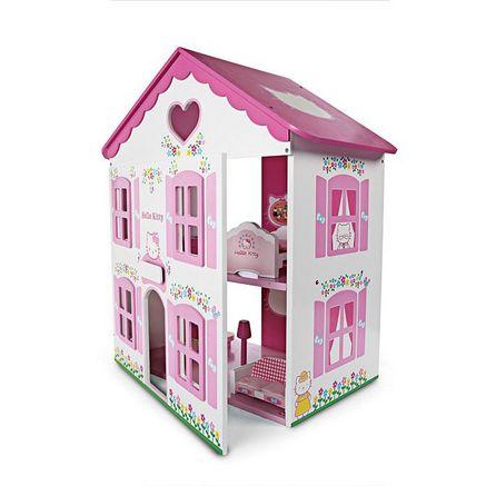 HELLO KITTY Wooden Dollhouse $69