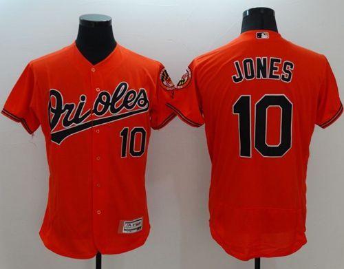 Orioles #10 Adam Jones Orange Flexbase Authentic Collection ...