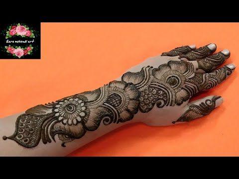 beautiful stylish arabic mehndi design