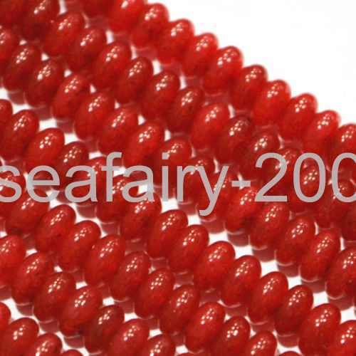 """Natural 2x4mm Faceted Red Ruby Gemstone Rondelle Loose Beads Strand 15/"""" AAA"""