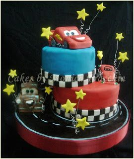 TORTA DECORADA DE CARS 2 | TORTAS CAKES BY MONICA FRACCHIA