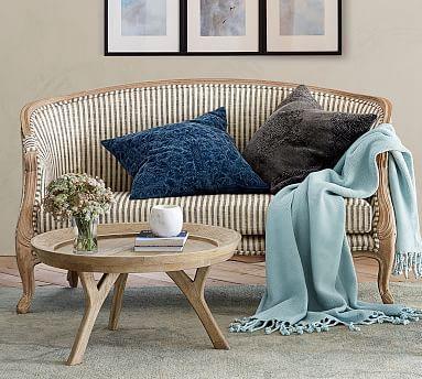 Bergere Upholstered Settee Potterybarn Upholstered Settee Furniture Settee Living Room