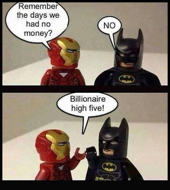 Life is tough... #teamironman #batman