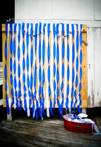 #diy #backdrop #photobooth #streamers #homemade #sailor #theme #bachelorette #party http://intimesof.wordpress.com/2014/07/01/easy-diy-photo-booth-with-streamers/