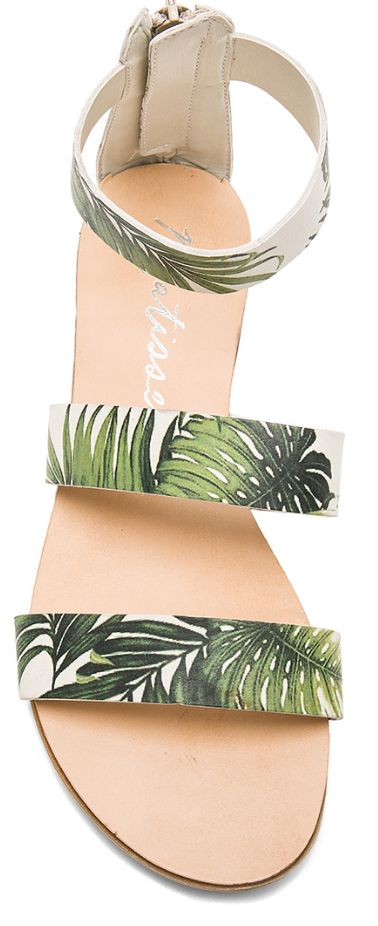 Chic palm tree sandals