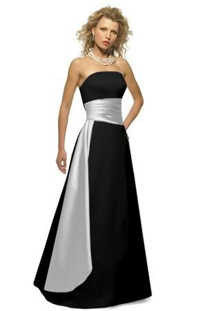 black and ice silver bridesmaid dress if it was navy blue