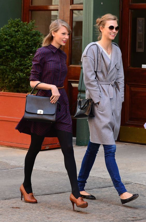 Besties Taylor Swift and Karlie Kloss pal around in NYC looking so selfie ready.