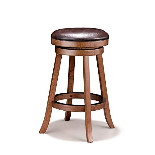 Wbbjbd Solid Wood Bar Stool Set Of 2 Round High Stool Bar Stool Home Bar Chair Bar Chair Sitting Height 75cm Size Two Bar Stools Stool Wood Bar Stools