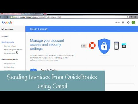 How to Email Invoices from QuickBooks using Gmail Office - sending invoices