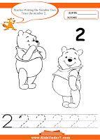 Kids Under 7: Practice Writing Numbers Disney