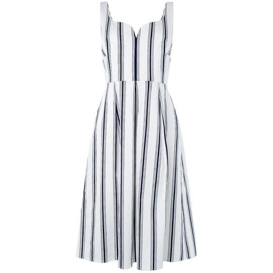 L.K. Bennett Reby Dress, Blue ($325) found on Polyvore