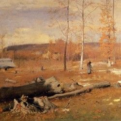 George Inness - Winter Morning, Montclair
